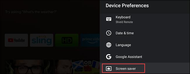 "Seleziona ""Screen Saver""."