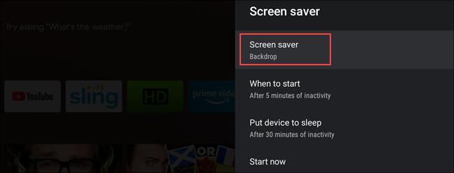 "Select ""Screen Saver."""
