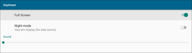 """Le impostazioni di YoWindow per lo screen saver """"Daydream""""."""