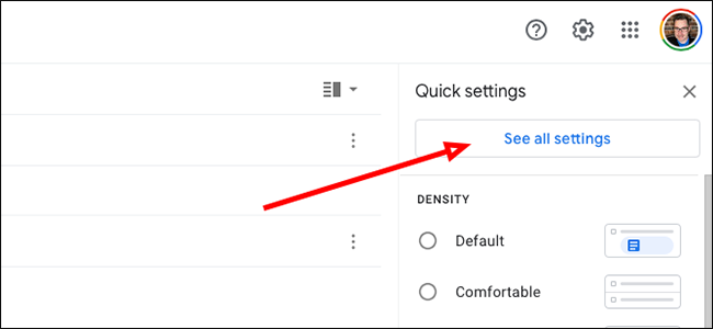 """Click """"See All Settings"""""""