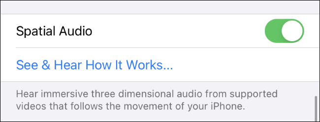 Enabling and testing Spatial Audio on an iPhone.