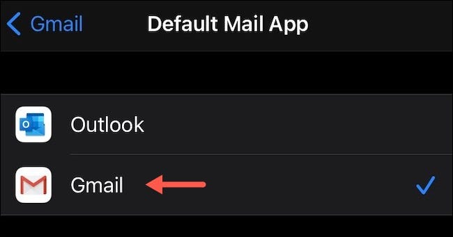"""Tap """"Gmail."""""""