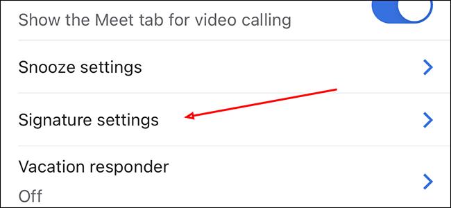 "Tap ""Signature settings"""