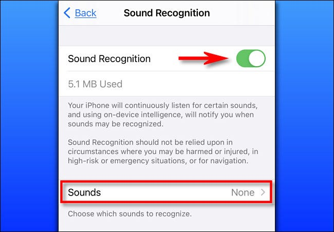 In Settings on iPhone, turn on Sound Recognition.
