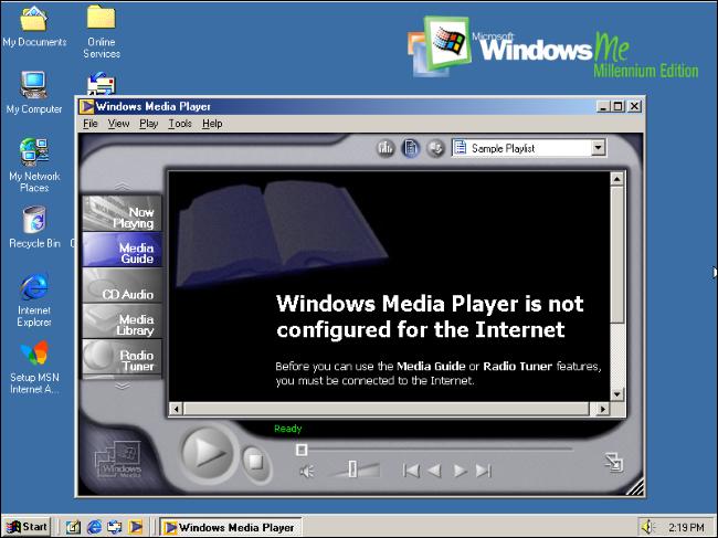 Windows Media Player 7 on Windows Me.