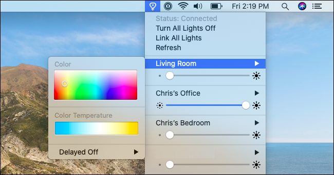 Controlling lights and colors with Colors for Hue.