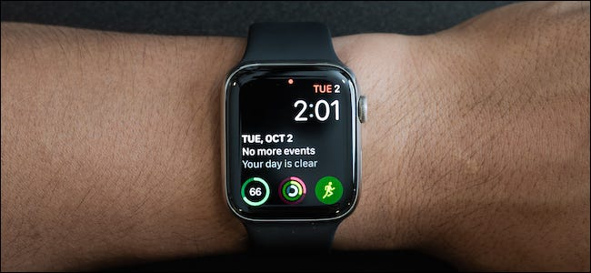 Apple Watch automatically switches to a dial