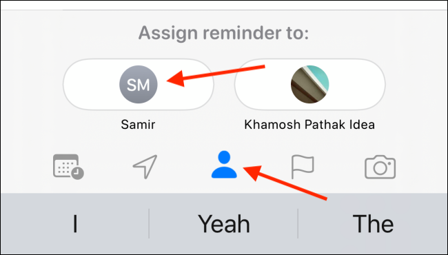 Tap the Assign button, and then select a contact.