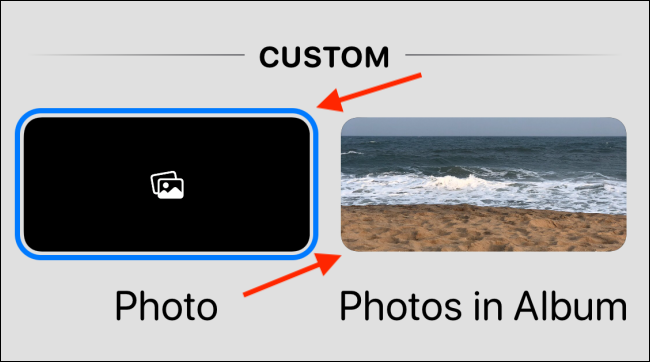 Select Photo or Photos in the album option