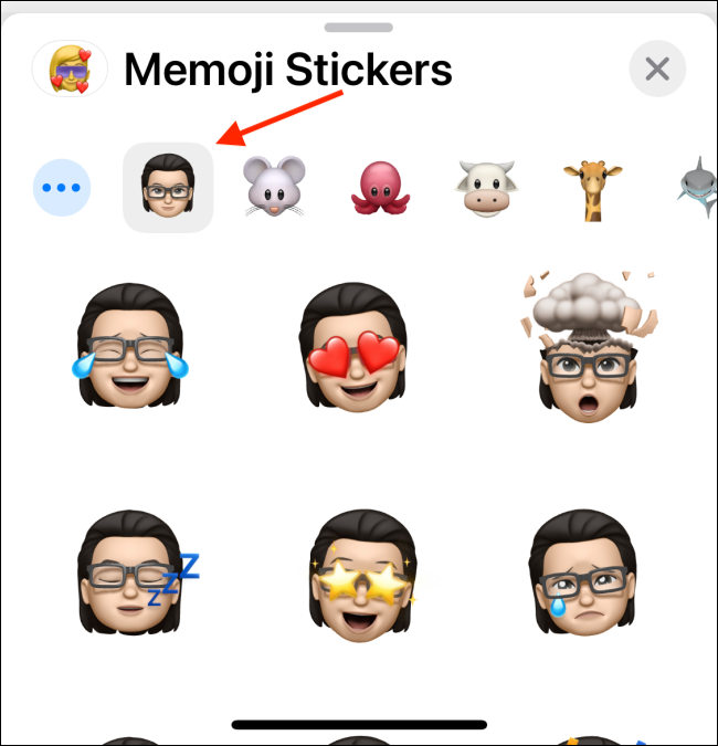Choose Your Memoji From Keyboard View