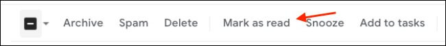On the Gmail toolbar on the web, click the Mark As Read button