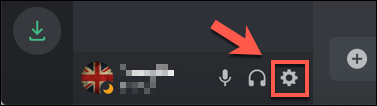 Press the settings cog icon next to your username in the bottom-left corner of the Discord app or website.