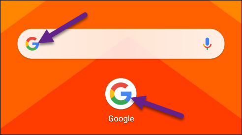 Tap the Google logo.