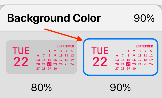 Select Background Color in Widgetsmith