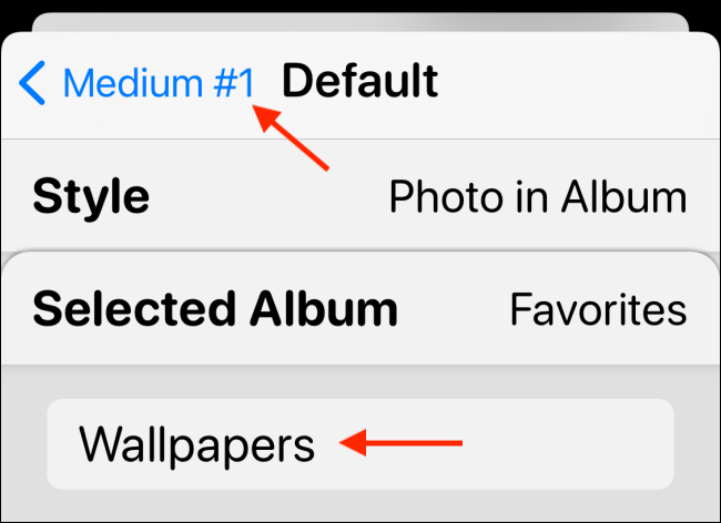 Select the album, then go back