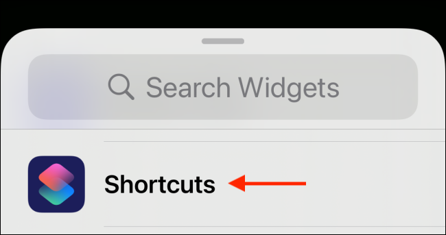 Tap Shortcuts from Widget Picker