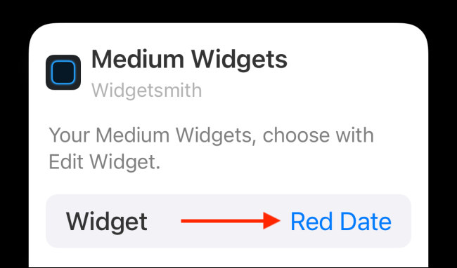 Tap on Widget From Options