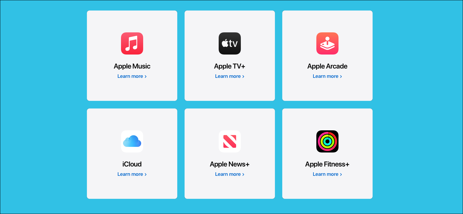 An Apple One package, including Apple Music, Apple TV +, Apple Arcade, iCloud, Apple News + and Apple Fitness +.