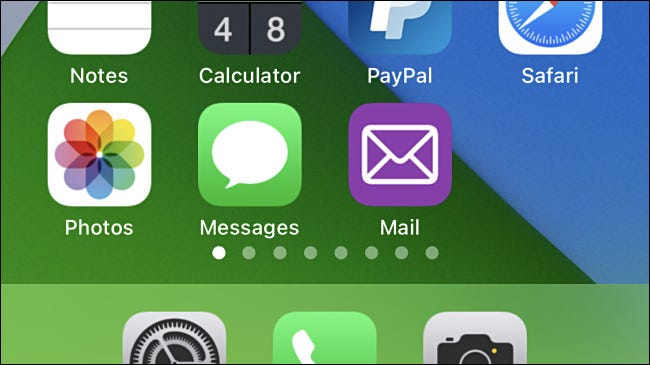 "A custom ""Mail"" app icon on iPhone."