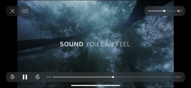 A Dolby Atmos test video played on an iPhone.