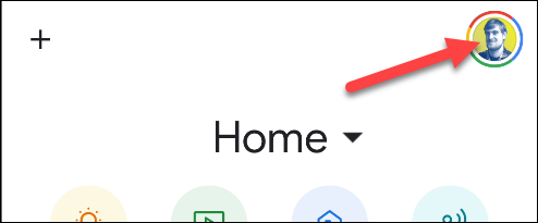 settings in the Google home app