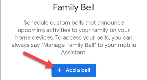 add a family bell message