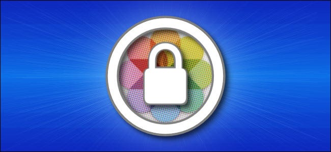 A padlock on top of the Apple Photos app icon.