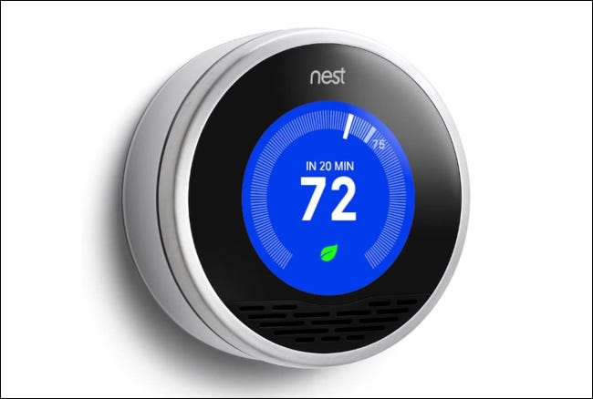 A Nest Learning Thermostat.