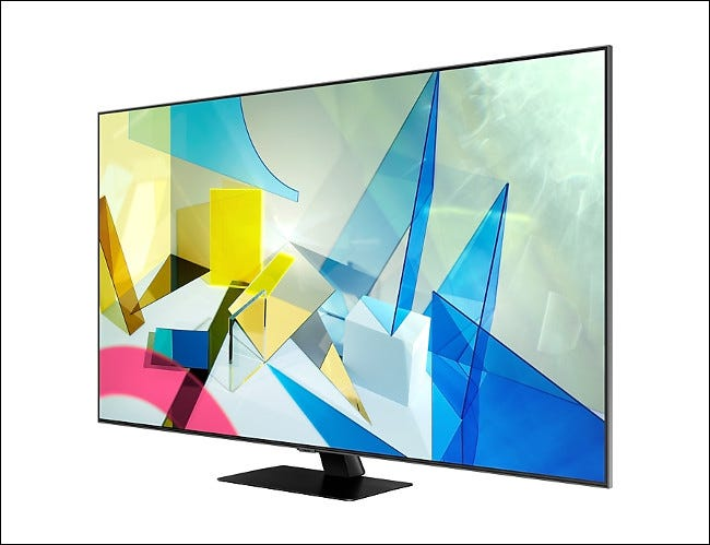 A Samsung Q80T QLED / LCD television.