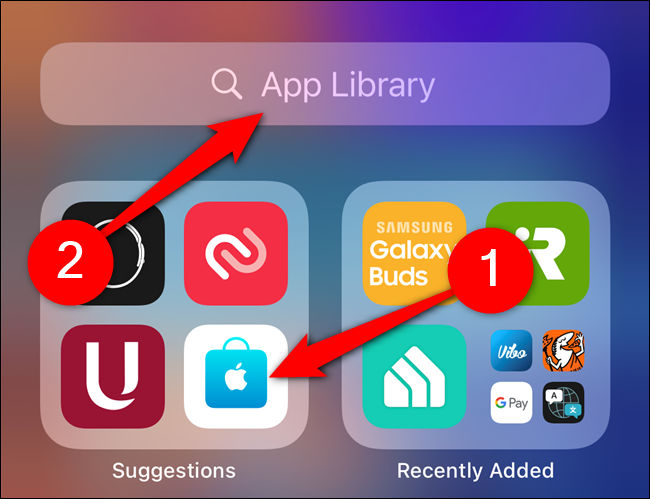 The app is moved to the app library