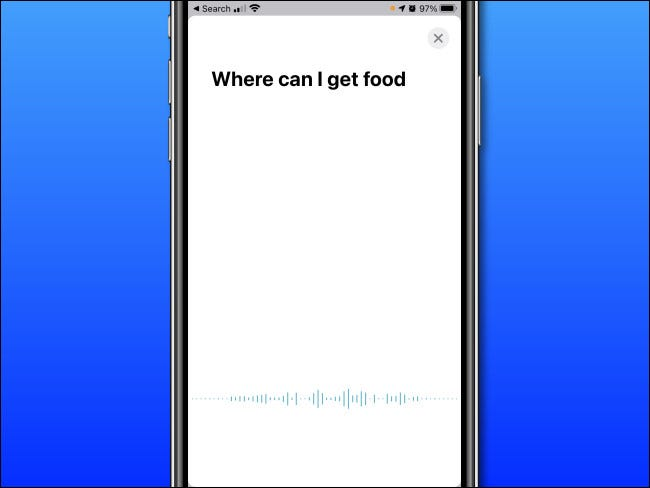 In Apple Translate on iPhone, speak the words you want to translate.
