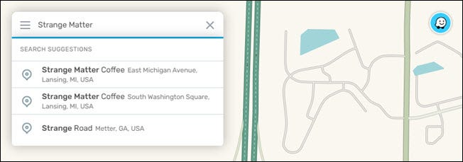 Type the location in the text box.
