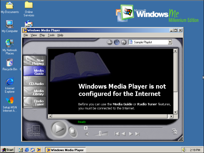 Windows Media Player 7 on Windows Me.