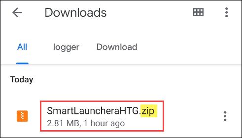 encontrar el archivo ZIP