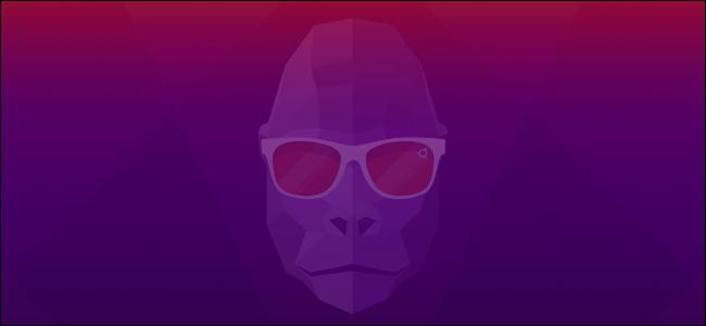 "The Ubuntu 20.10 ""Groovy Gorilla"" mascot on a desktop."