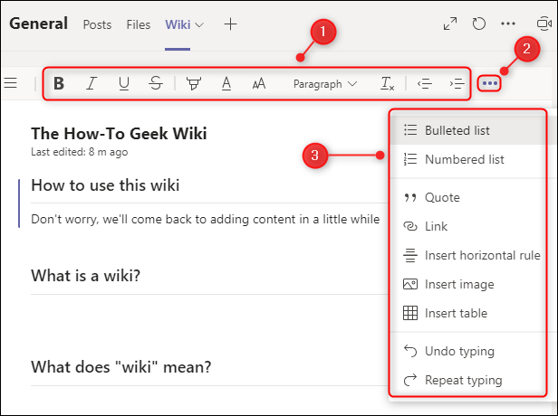 The text editing toolbar.