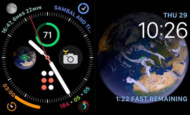 infographic and astronomy faces on apple watch
