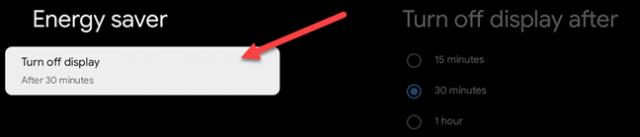 select turn display off