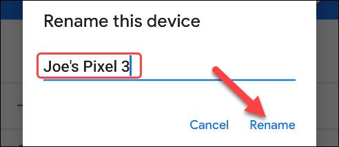 enter new device name
