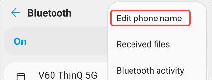 tap edit phone name