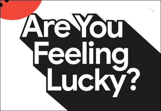 "The ""Are You Feeling Lucky?"" logo."