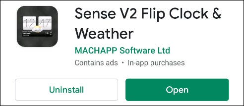 Sense V2 Flip Clock & Weather