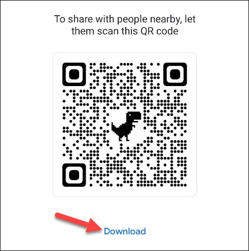 share or download the qr code