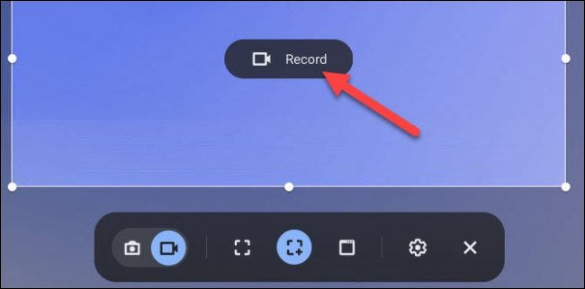partial screen recording