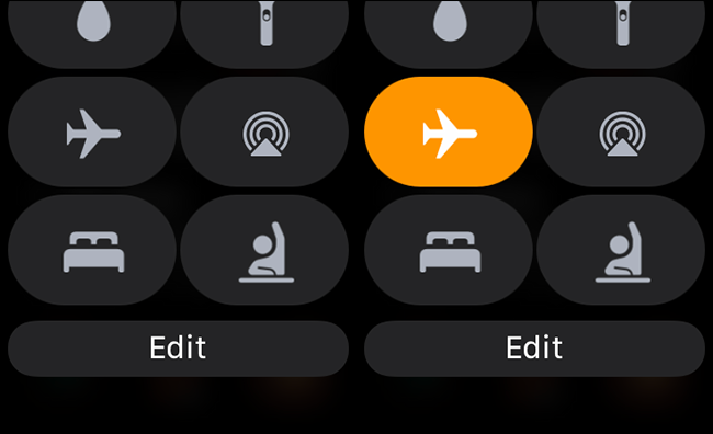 toggling airplane mode on and off on apple watch