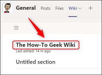 A renamed wiki page.