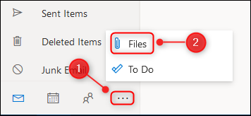 "The ""Files"" icon on the menu."