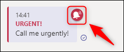 """A message marked as """"Urgent"""" in a chat."""