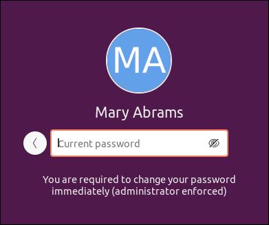 The Password Reset screen.