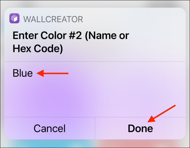 Add Color 2 and tap Done
